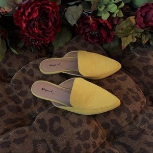Shoes - Yellow mules size 7